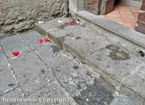 Montefiascone - Il degrado alla chiesa della Madonna dell'Arco