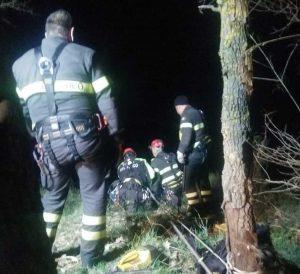 Soriano nel Cimino - Cade nel dirupo e muore - L'intervento dei vigili del fuoco
