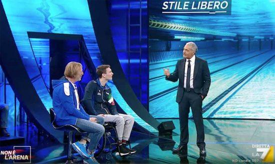 Manuel Bortuzzo ospite a La7 da Giletti