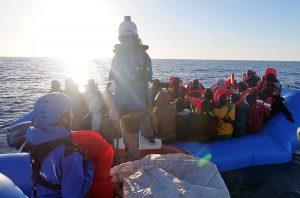 I migranti salvati dalla ong Mediterranea