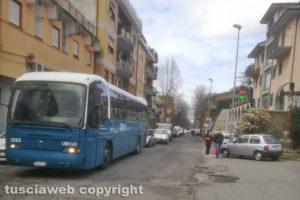 Bagnaia - Il passaggio a livello di viale Fiume