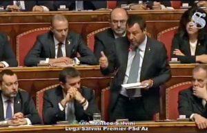 Caso Diciotti - Il ministro Salvini interviene al Senato
