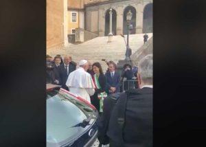 Roma - Il papa nella sua visita al Campidoglio