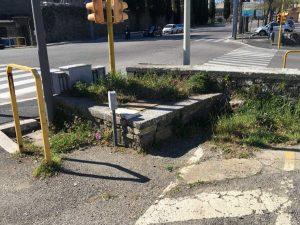 Viterbo - Ripulito il parcheggio libero di viale Raniero Capocci