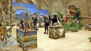 """Viterbo - L'inaugurazione della """"Terra dei giganti"""", la mostra dei dinosauri"""