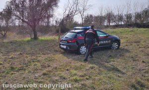 Montefiascone - L'incendio in località Monte Rotondo - L'intervento dei carabinieri