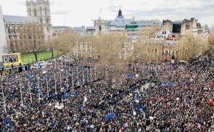 Londra- Manifestazione di protesta contro la Brexit