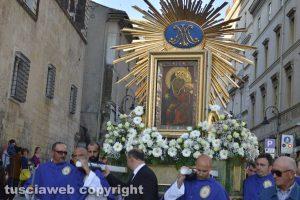Tarquinia - La processione con la tavola di Maria Santissima di Valverde