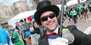 Bruno Buzzi in frac alla mezza maratona di New York