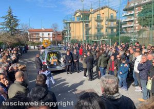 Viterbo - I funerali di Luca Paolella