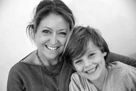 Riccardo Antonaci con la madre  Grazia Cannito