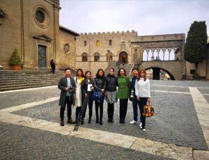 I turisti cinesi a Viterbo