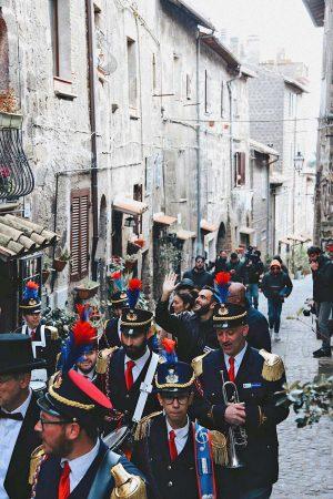 Ronciglione - Marco Mengoni con la banda Alceo Catini