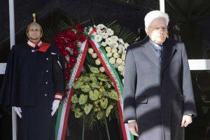 Belluno - Sergio Mattarella rende omaggio alle vittime del Vajont