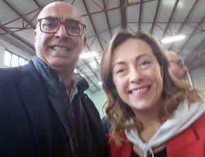 Alberto Riglietti e Giorgia Meloni