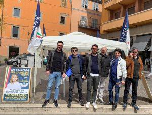 Viterbo - Gazebo Fratelli d'Italia