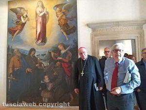 Sutri - Mostra a palazzo Doebbing - Vittorio Sgarbi e il vescovo Romano Rossi