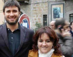 Miriam Vitangeli con Alessandro Di Battista