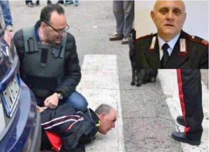 Sparatoria a Foggia - L'arresto del killer Giuseppe Papantuono - Nel riquadro: La vittima Vincenzo Di Gennaro