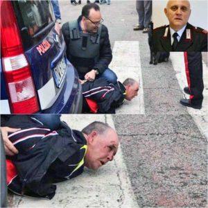 Sparatoria a Foggia - L'arresto di Giuseppe Papantuono - Nel riquadro: Vincenzo Di Gennaro