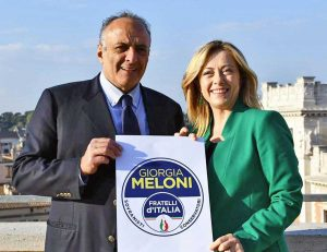 Antonello Iannarilli con Giorgia Meloni