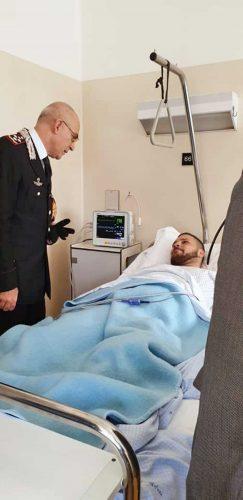 Sparatoria a Foggia - Il comandante dell'Arma Giovanni Nistri con il carabiniere Pasquale Casertano