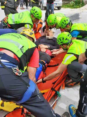 Rieti - Escursionista infortunato a Cantalice - L'intervento del soccorso alpino