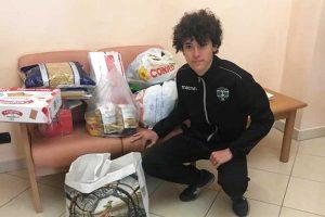 Sport - Rugby - Union Viterbo - La prima consegna alla casa d'accoglienza