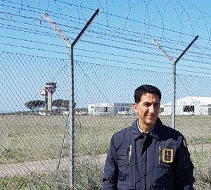 Fabio belli (Ance) all'aeroporto di Viterbo