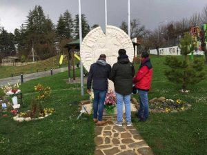 La visita al monumento ai caduti di Amatrice