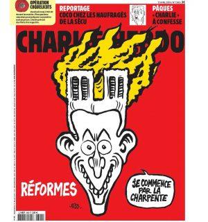 Vignetta di Charlie Hebdo su incendio a Notre-Dame