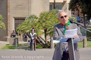 Viterbo - 25 aprile - Il presidente dell'Anpi Enrico Mezzetti