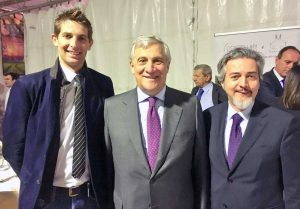 Manuel Catini, Antonio Tajani e Francesco Battistoni