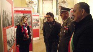Vitorchiano - Il generale Addis alla mostra