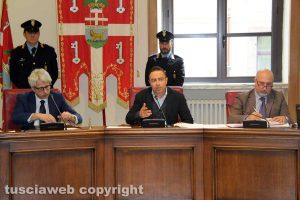 Viterbo - Consiglio provinciale - Il presidente Pietro Nocchi