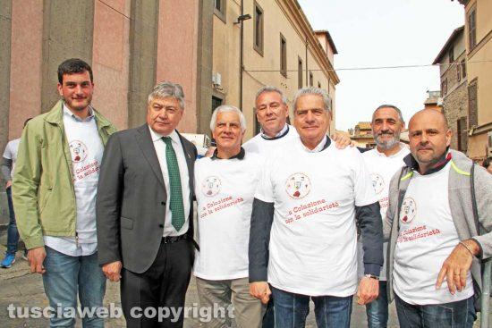 Viterbo - Il sindaco Giovanni Arena e il senatore Umberto Fusco assieme agli organizzatori