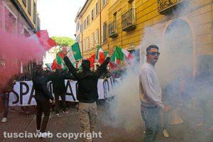 Francesco Chiricozzi durante una manifestazione