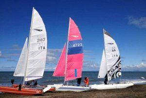 Sport - Vela - La regata di catamarani Dart 18 a Tarquinia