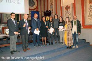 """Viterbo - Premio """"Viterbo che studia"""" - Le studentesse dell'istituto Orioli con la preside Simonetta Pachella"""