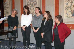 """Viterbo - Premio """"Viterbo che studia"""" - Le studentesse dell'istituto Santa Rosa con due docenti"""