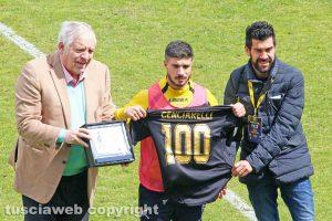 Sport - Calcio - Viterbese - Diego Cenciarelli premiato dalla società