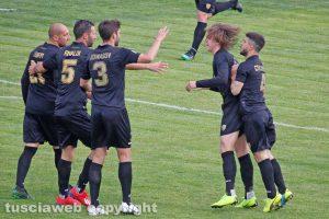 Sport - Calcio - Viterbese - L'esultanza dopo il gol di Zerbin