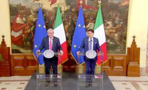 Giuseppe Conte e Jean Claude Juncker