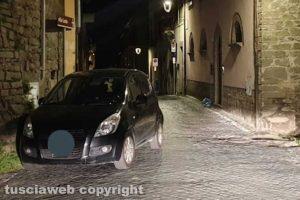 Viterbo - Sosta selvaggia in via Zuccari a Bagnaia