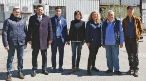 Tarquinia - Alessandra Pesce con Silvia Blasi e Andrea Andreani del M5s