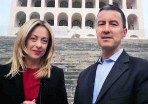 Giorgia Meloni e Caio Giulio Cesare Mussolini