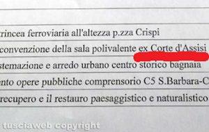 La proposta d'emendamento con la dicitura Corte d'Assisi