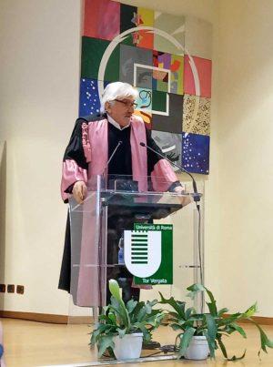 Roma - Università Tor Vergata - Gigi Proietti insignito del titolo di professore emerito honoris causa