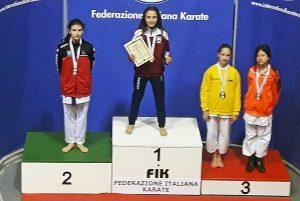 Sport - Campionati italiani di karate - Al centro: Gaia Della Torre