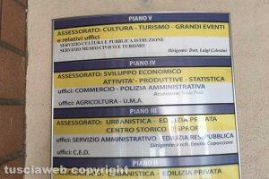 Viterbo - Cartelli datati al comune